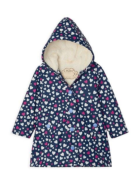 Little Girl's & Girl's Confetti Hearts Jacket