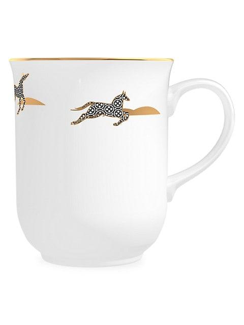 Memo Paris Cuirs Nomades Mint Scented Porcelain Coffee Mug Candle Saksfifthavenue