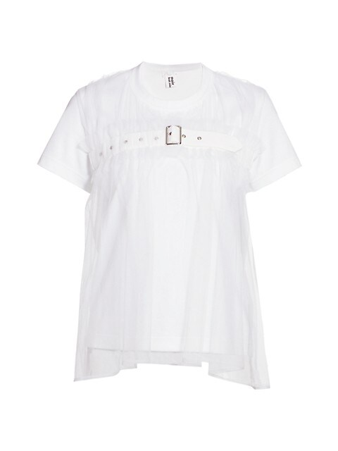 Belted Tulle T-Shirt