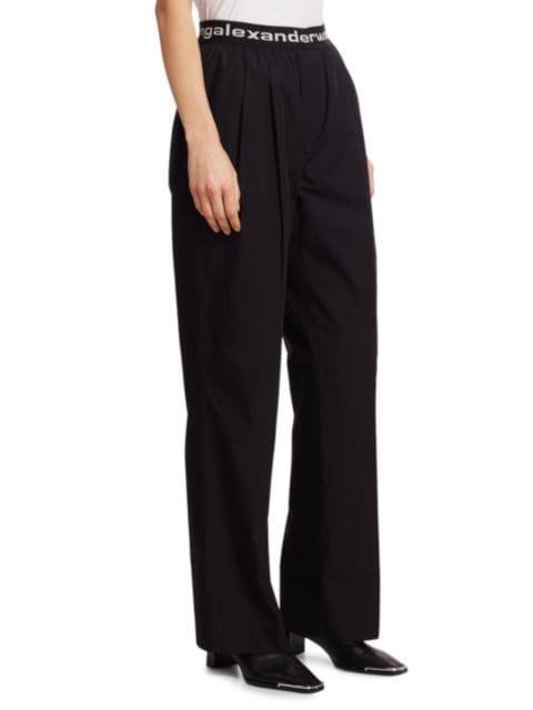 Alexanderwang.t Pleated Cotton Trousers | SaksFifthAvenue