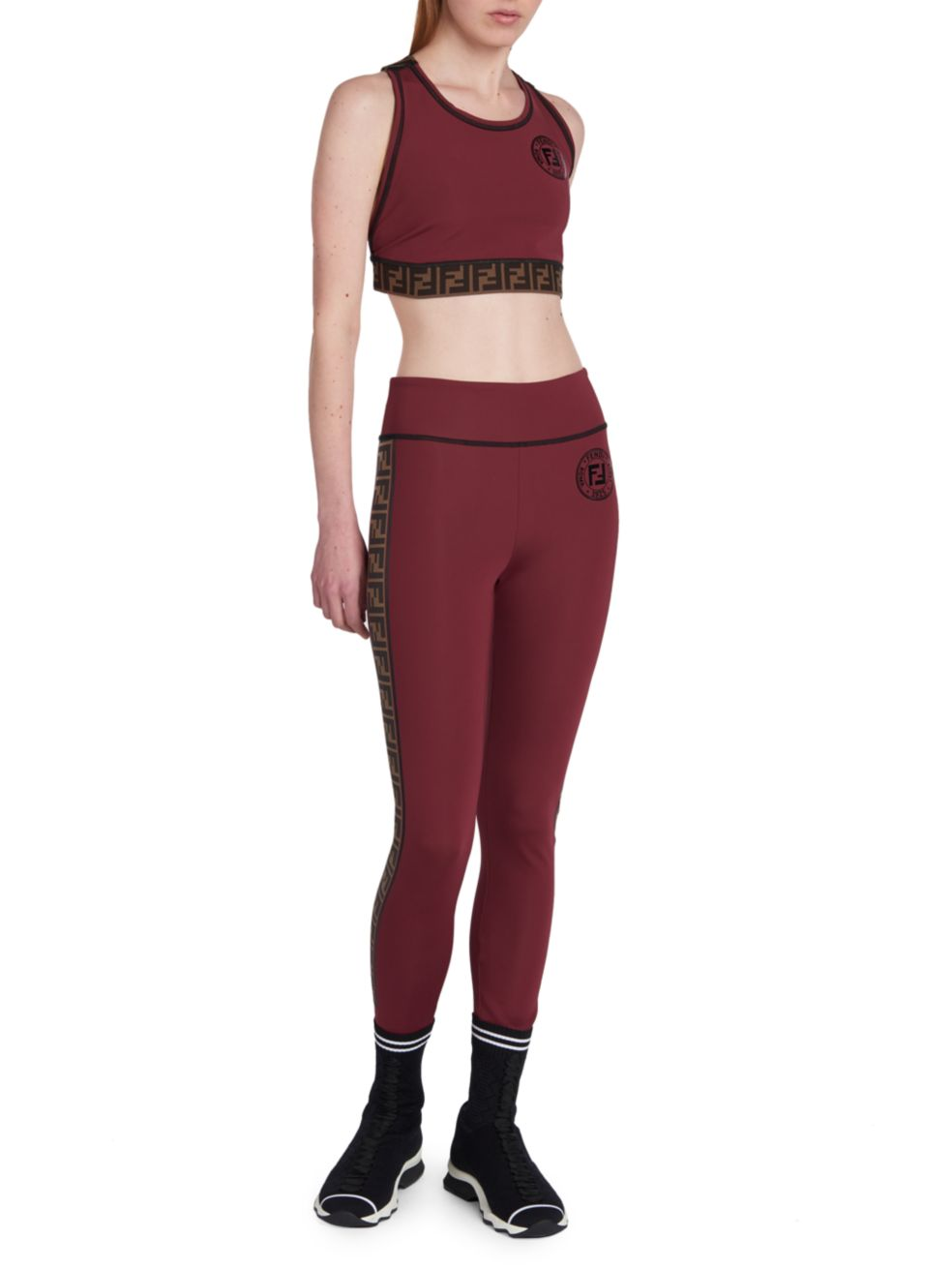 Fendi Fendirama Fitness Cropped Top   SaksFifthAvenue