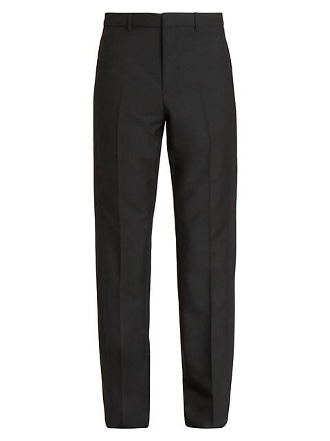 Tuxedo Band Virgin Wool & Mohair Trousers
