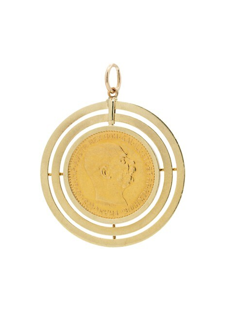 Antique 22K Yellow Gold French Coin Charm