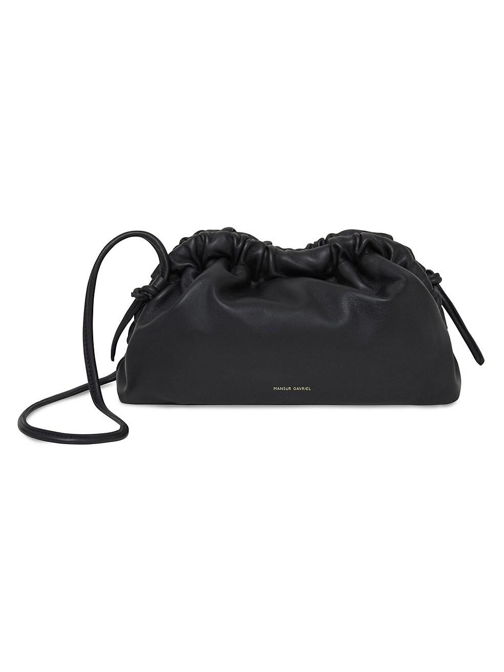 만수르 가브리엘 클러치 MANSUR GAVRIEL Mini Cloud Leather Clutch,BLACK FLAME