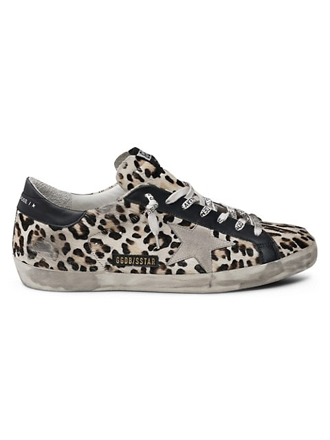 Men's Superstar Leopard-Print Calf Hair & Leather Sneakers