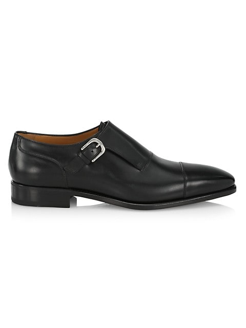 Giordano Monk-Strap Leather Shoes
