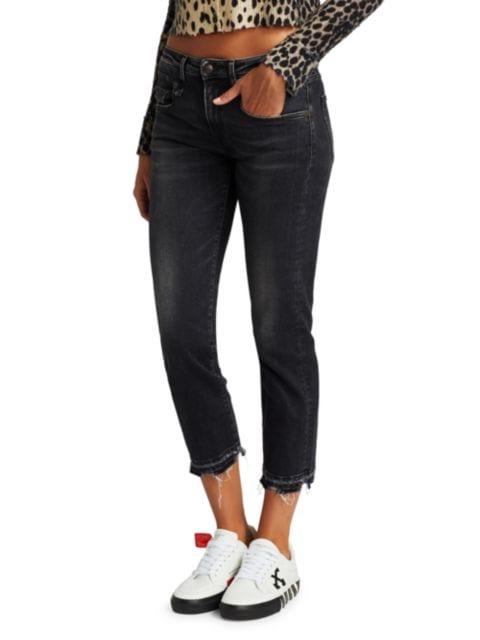 R13 Boyfriend Straight Cropped Jeans | SaksFifthAvenue