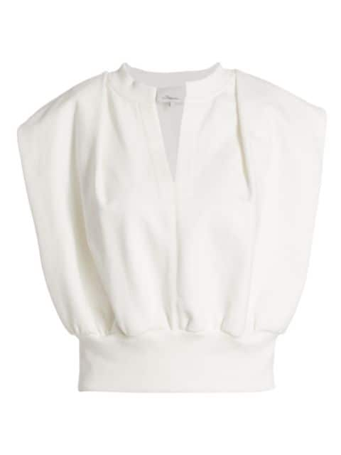 3.1 Phillip Lim French Terry Cropped Top | SaksFifthAvenue