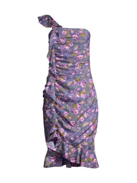 Likely Lois Ruffle Midi Dress   SaksFifthAvenue