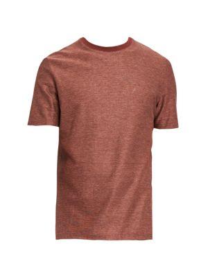 THEORY Milan Standard-Fit Micro Grid Check T-Shirt