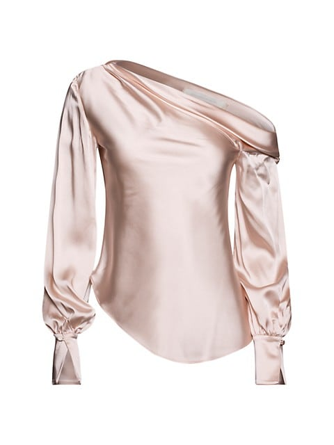 Alice Satin Off-The-Shoulder Top