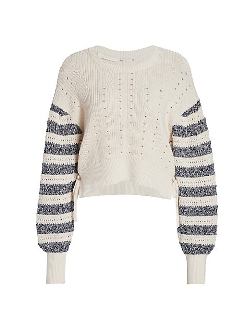 Savi Tie-Detail Crewneck Sweater