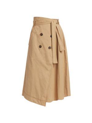 Jonathan Simkhai Malia Trench Wrap Skirt