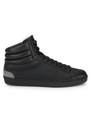 Gucci Ace High-Top Leather Sneakers