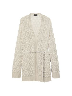 Theory Relief Cashmere-Blend Cardigan