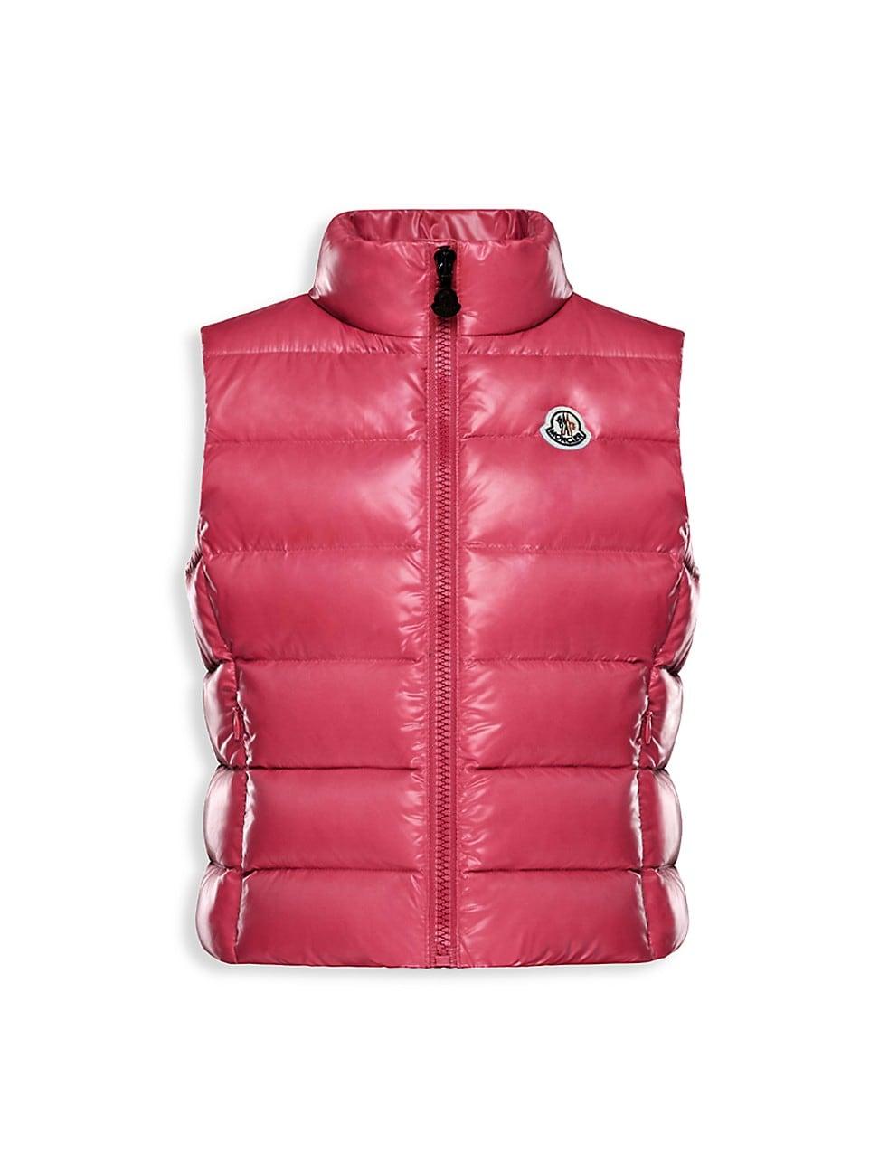 Moncler Girls' Ghany Down Puffer Vest - Little Kid, Big Kid In Dark Pink
