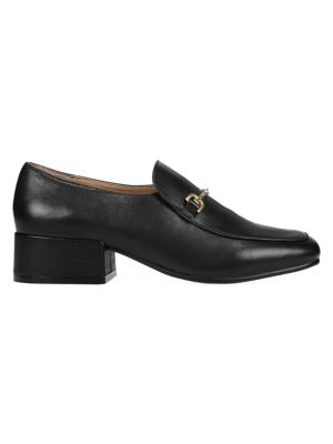 Sam Edelman Jamille Square-Toe Leather Loafers