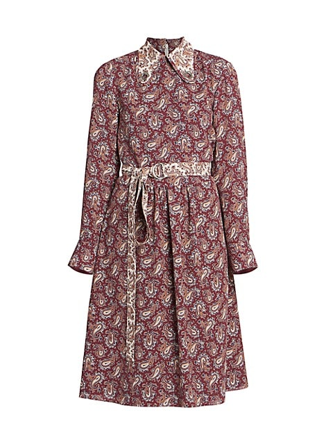 Paisley Silk Shirtdress