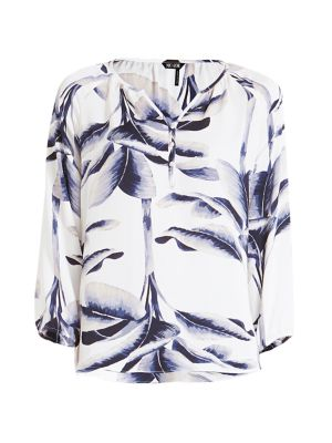 Nic + Zoe Botanical Leaf Blouse