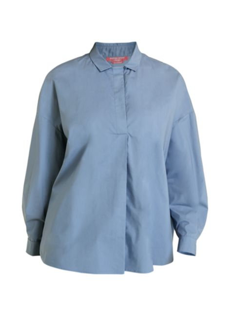 Marina Rinaldi, Plus Size Poplin Oversized Shirt   SaksFifthAvenue