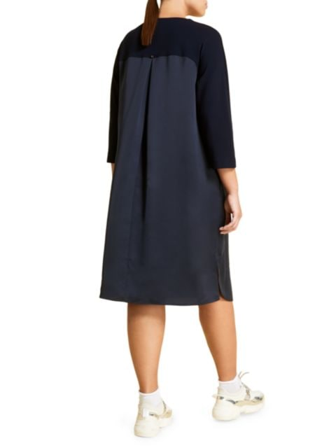 Marina Rinaldi, Plus Size Dadaismo Colorblock Satin Tunic Dress | SaksFifthAvenue