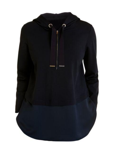 Marina Rinaldi, Plus Size Sport Obelisco Jersey Punto Hooded Sweatshirt | SaksFifthAvenue
