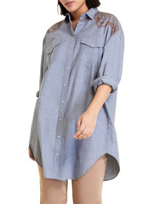 Marina Rinaldi Cottons Sport Fabula Chambray Shirt
