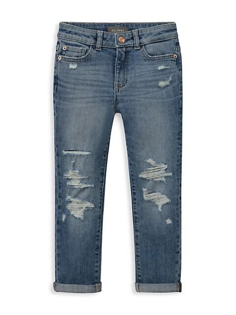 Little Girl's Harper Distressed Boyfriend Jeans