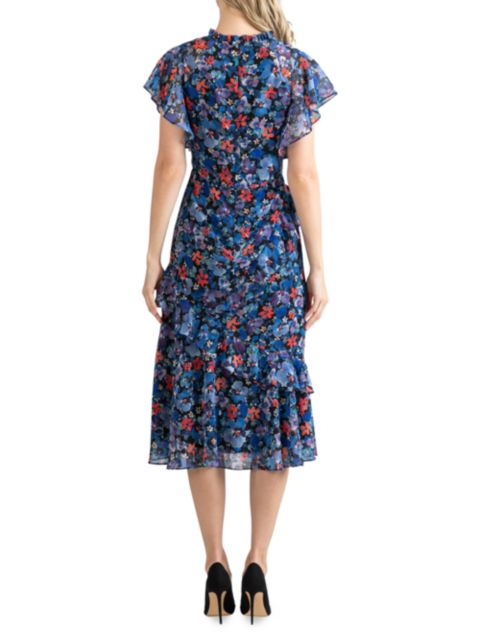 Shoshanna Thalia Floral Midi Dress   SaksFifthAvenue