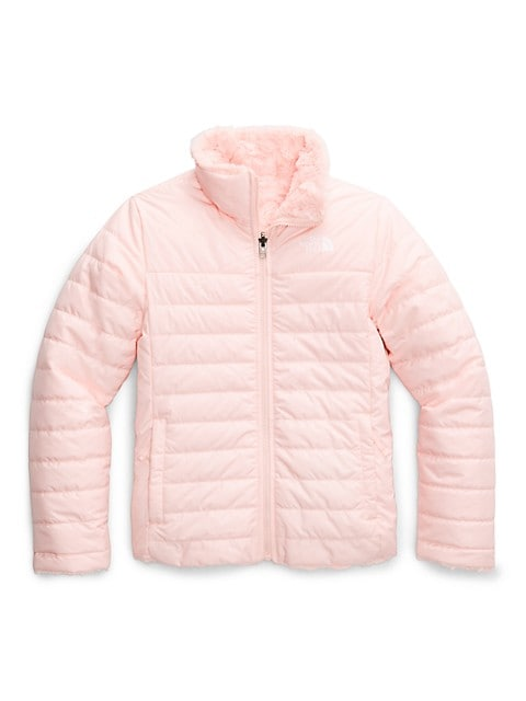The North Face Little Girls & Girls Mossbud Reversible Quilted/Faux Fur Jacket