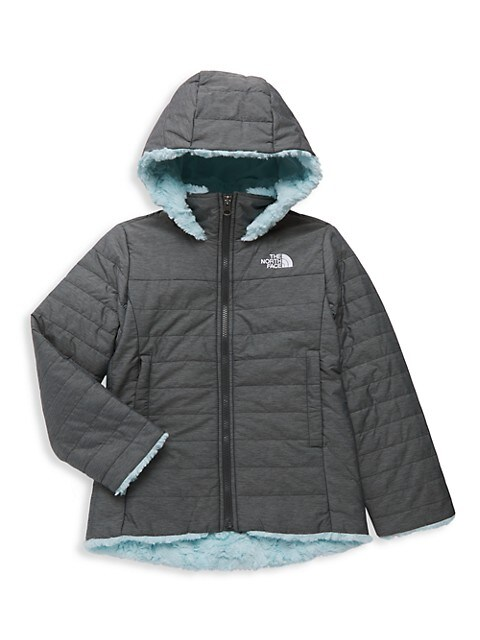 The North Face Little Girls & Girls Down Faux Fur Jacket