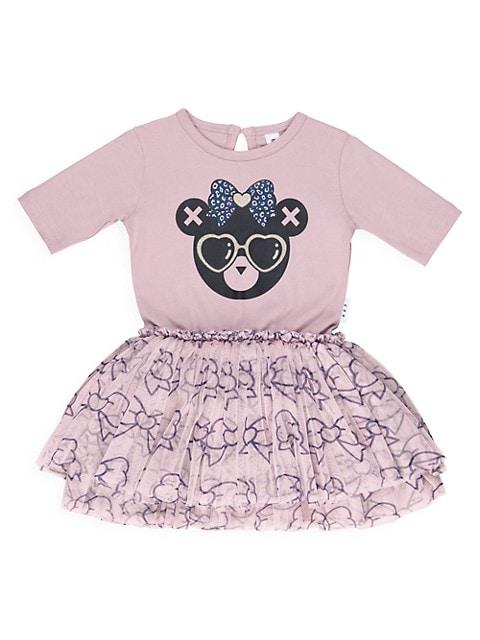 Little Girl's Bow Bear Ballet Dress