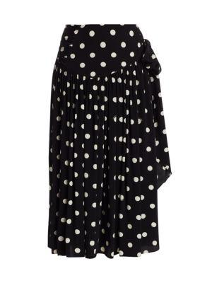 Marc Jacobs The 80s Polka Dot Pleated Skirt