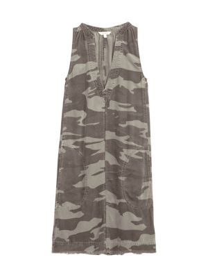 Splendid Gemma Sleeveless Camo Dress