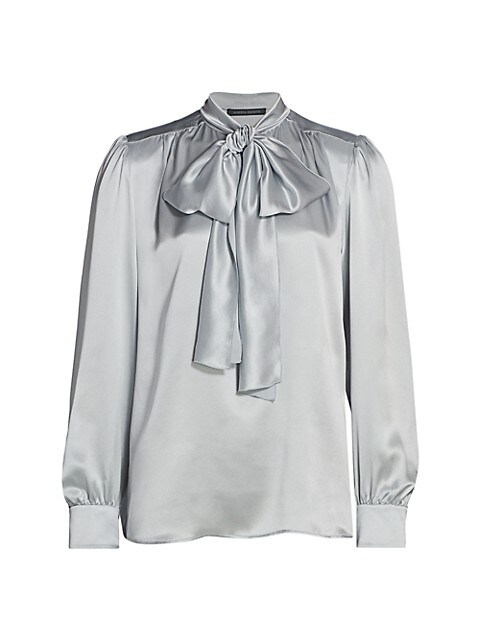 Satin Tieneck Blouse