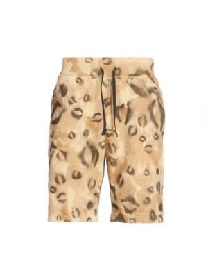 Alyx Leopard-Print Sweat Shorts