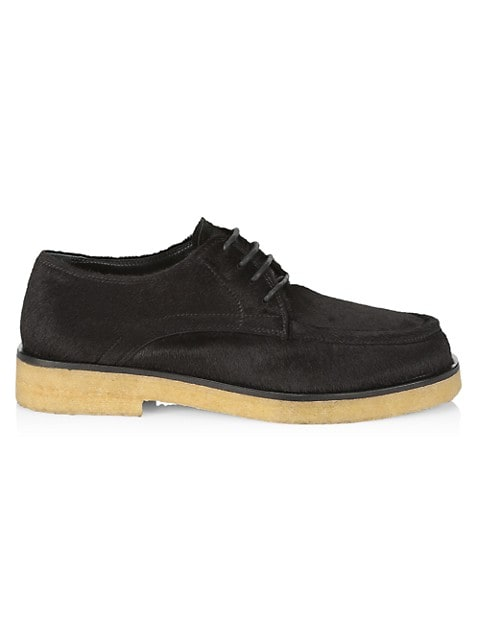 Pony Hair & Leather Oxfords
