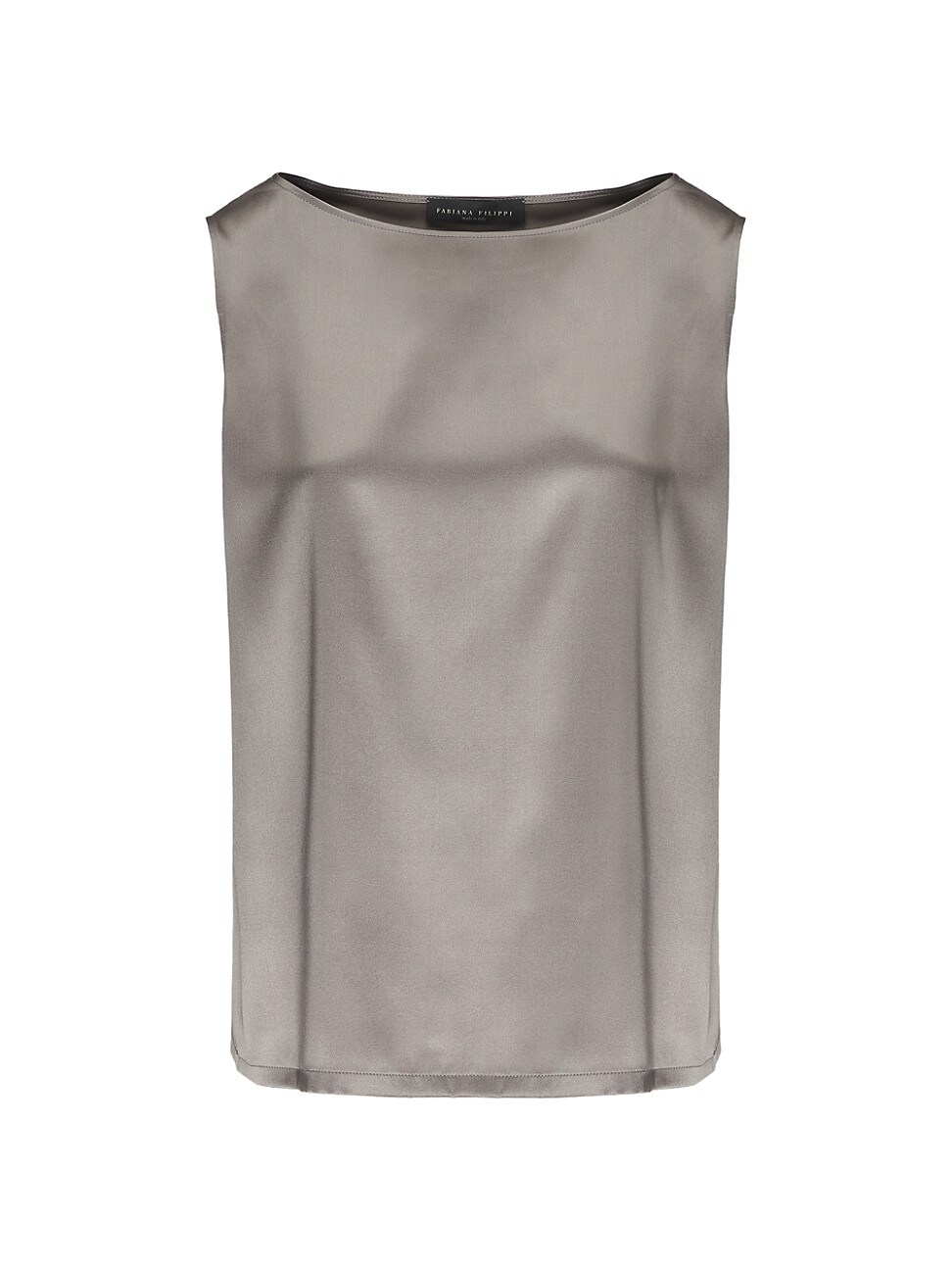Fabiana Filippi Women's Sleeveless Satin Tank Top In Grey