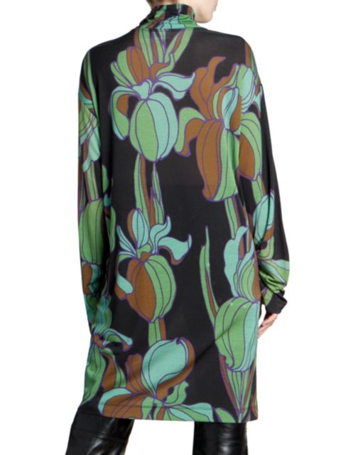 Dries Van Noten Floral Long Sleeve Dress   SaksFifthAvenue