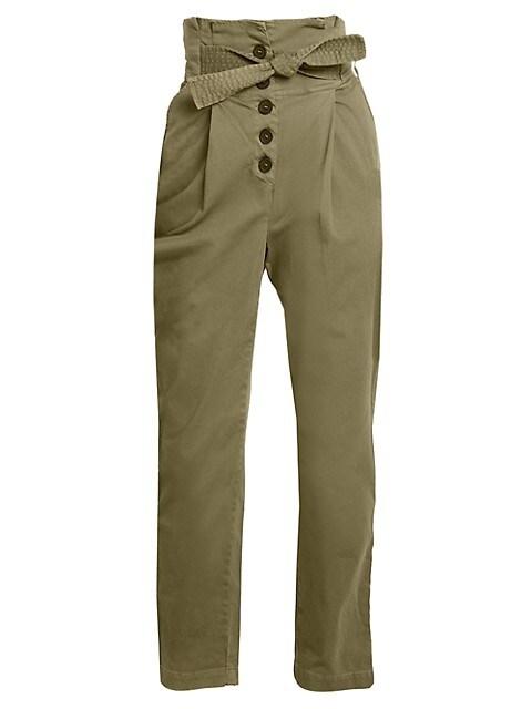 Krew High-Waisted Tie-Waist Pants