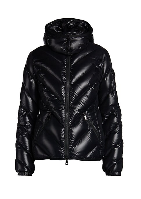 Moncler Women's Side Zip Jacket Black