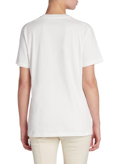Moncler Logo Emblem T-Shirt   SaksFifthAvenue