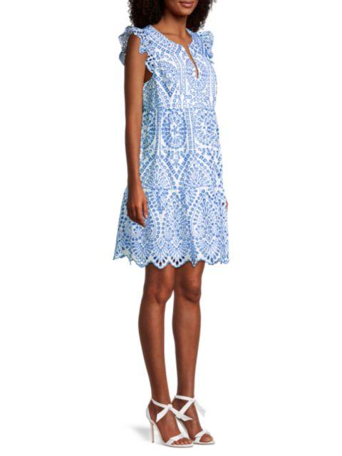 Lilly Pulitzer Keila Tiered Tunic Dress   SaksFifthAvenue