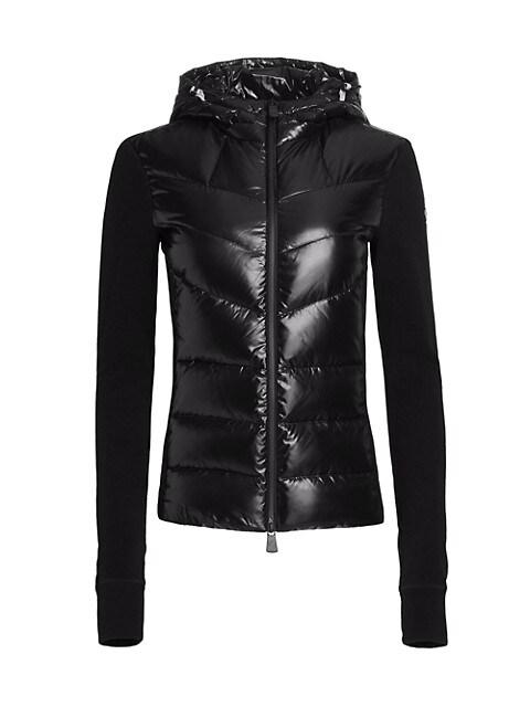 Technical Hooded Nylon Fleece Zip Jacket