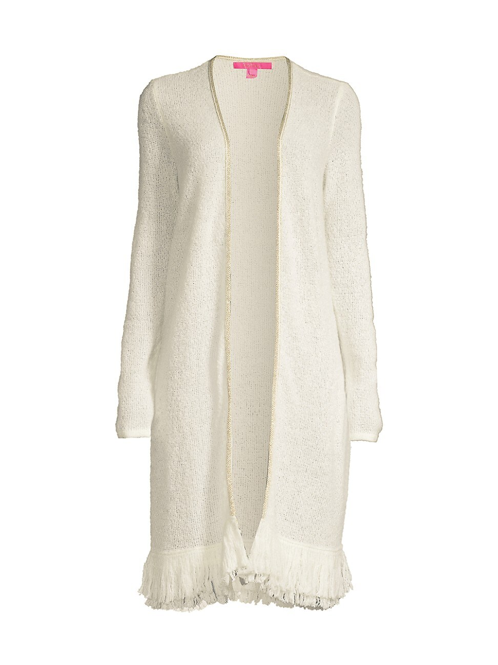 Lilly Pulitzer Women's Yana Open-front Cardigan In Coconut