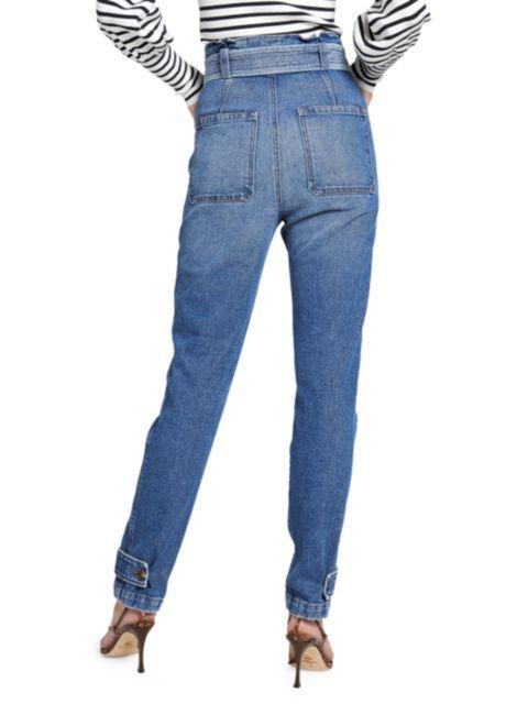 A.L.C. Luke Tie-Waist Straight Leg Jeans   SaksFifthAvenue