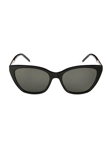 Saint Laurent Monogram 56MM Cat Eye Sunglasses