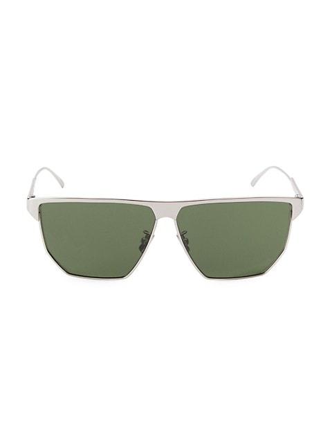 57MM Flat-Top Geometric Sunglasses