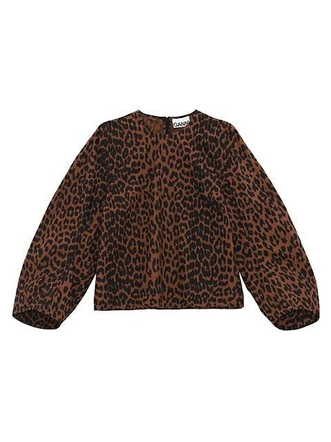 Leopard Cotton Blouse