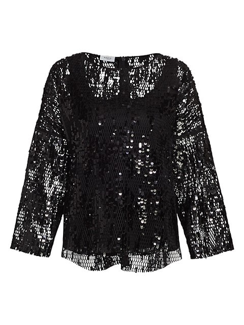 Sequin Boatneck Blouse